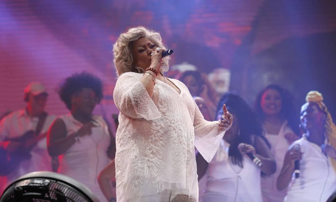 Cantora foi abençoada por Alcione, uma das vozes mais marcantes da música brasileira Foto: Brenno Carvalho / O Globo