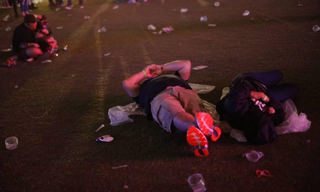 Lixo na Cidade do Rock Foto: Agência O Globo