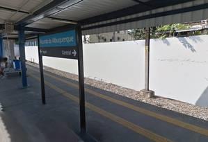 A estação de Ricardo de Albuquerque, onde o homem foi preso Foto: Google Street View / Reprodução