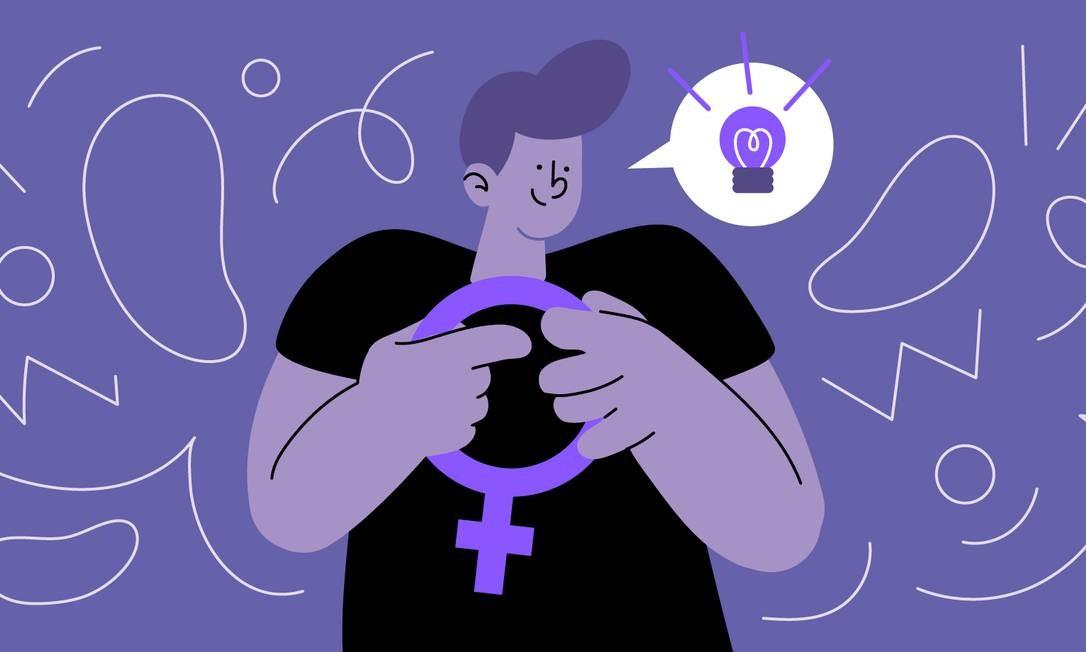 A campanha ElesPorElas, da ONU Mulheres, fo icriada há cinco anos com o objetivo de trazer os homens para a luta por igualdade de gênero Foto: Arte de Paula Cruz