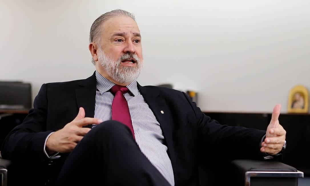 O novo Procurador-Geral da República, Augusto Aras, criticou a Lava-Jato por ter se tornado 'personalista' Foto: Jorge William / Agência O Globo