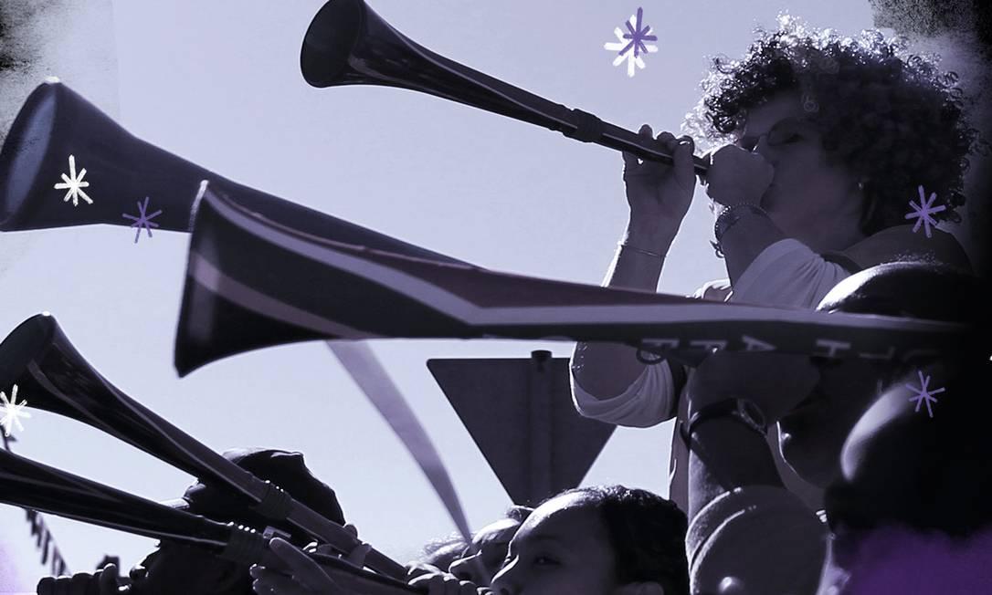 Vuvuzela é usada por patrulheiros de Soweto Foto: Reuters