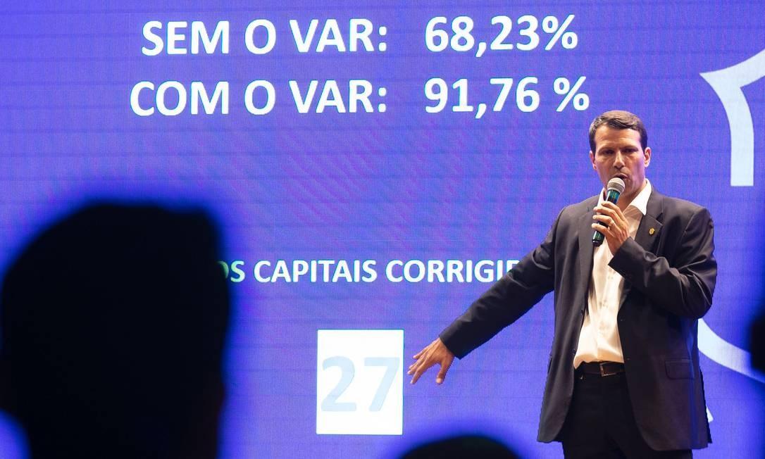 Leonardo Gaciba, presidente da comissão de arbitragem da CBF Foto: Lucas FIgueiredo/CBF