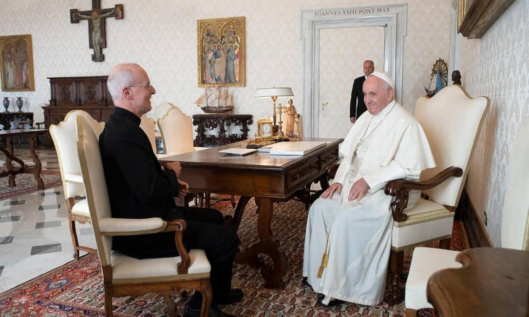Padre jesuíta James Martin, defensor dos católicos LGBTQ, teve audiência com Papa Francisco Foto: Divulgação