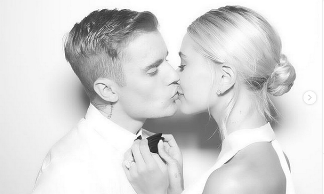 Justin Bieber e Hailey Baldwin em seu casamento Foto: Reprodução/ Instagram