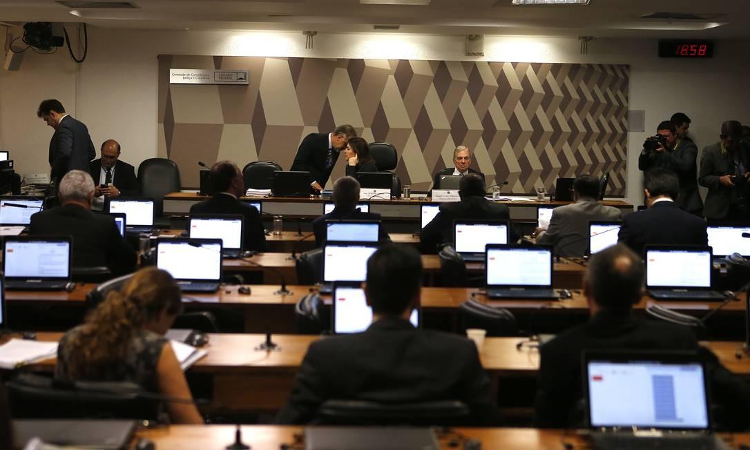 Comissão de Constituição e Justiça (CCJ) do Senado se reúne para votar o relatório da Reforma da Previdência Foto: Jorge William