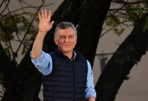 Após índices altos de pobreza divulgados na segunda-feira, as chances de reeleição de Macri são cada vez menores Foto: RONALDO SCHEMIDT / AFP