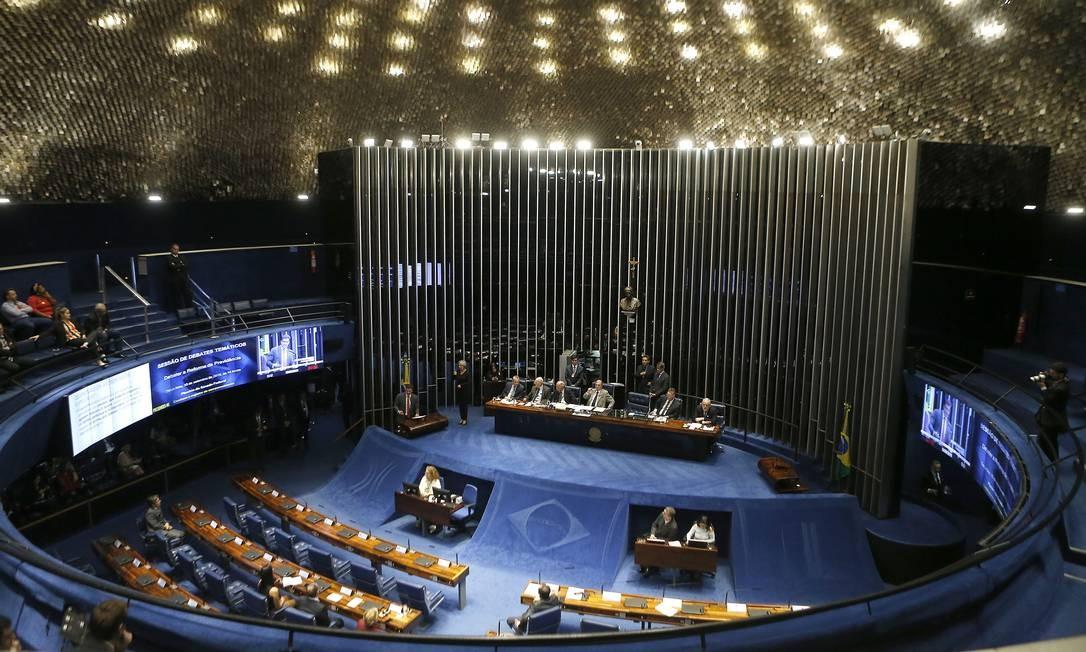 Plenário do Senado debate e vota o texto da reforma da Previdência Foto: Jorge William / Agência O Globo