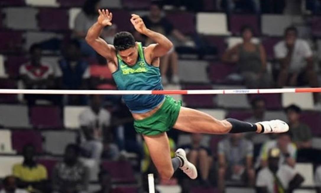 Thiago Braz ficou em quinto em Doha Foto: Reprodução