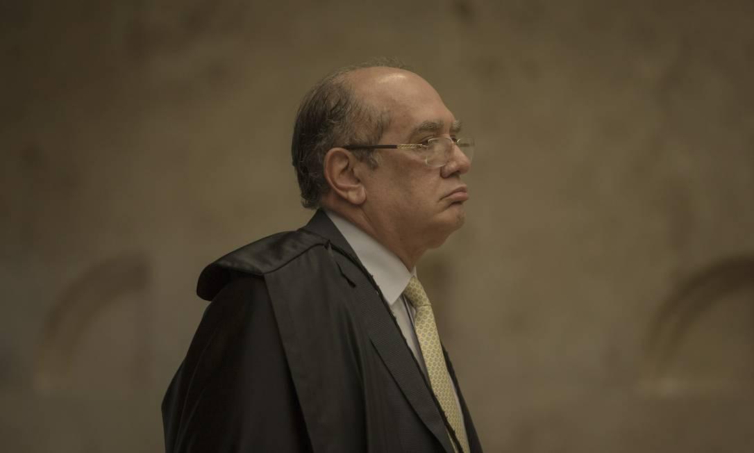O ministro do STF Gilmar Mendes, em 2018 Foto: Daniel Marenco / Agência O Globo