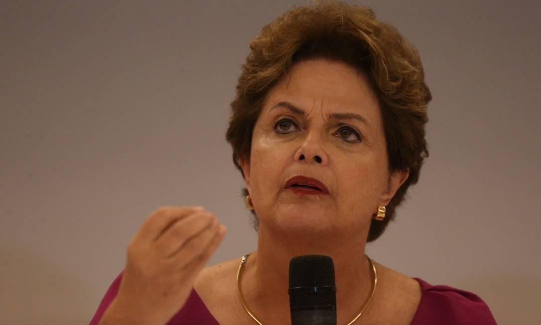 A ex-presidente Dilma Rousseff Foto: Pedro Teixeira/Agência O Globo
