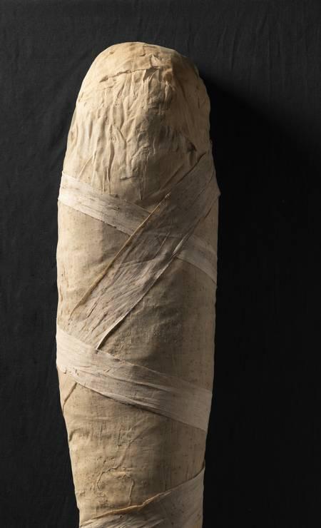 Múmia: o corpo de uma senhora que se chamava Tararo, de 700 anos A.C. Foto: Divulgação/Museo Egizio