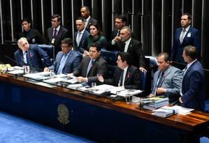 Plenário vota, em 1° turno, a reforma da Previdência Foto: Agência Senado
