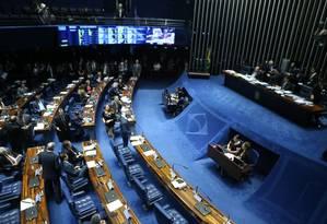 Senado retoma votação de destaques à reforma da Previdência Foto: Jorge William- Agência O Globo