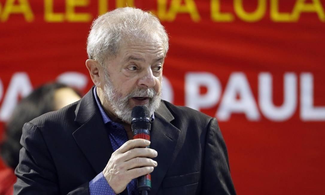O ex-presidente Luiz Inácio Lula da Silva Foto: Edilson Dantas / Agência O Globo 05-05-2017