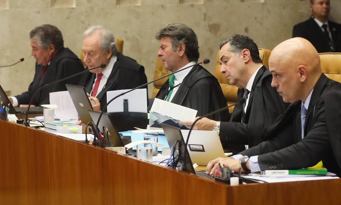 Sessão plenária do STF terminou sem consenso entre os ministros e foi adiada para a próxima quinta-feira Foto: Nelson Jr. / SCO/STF