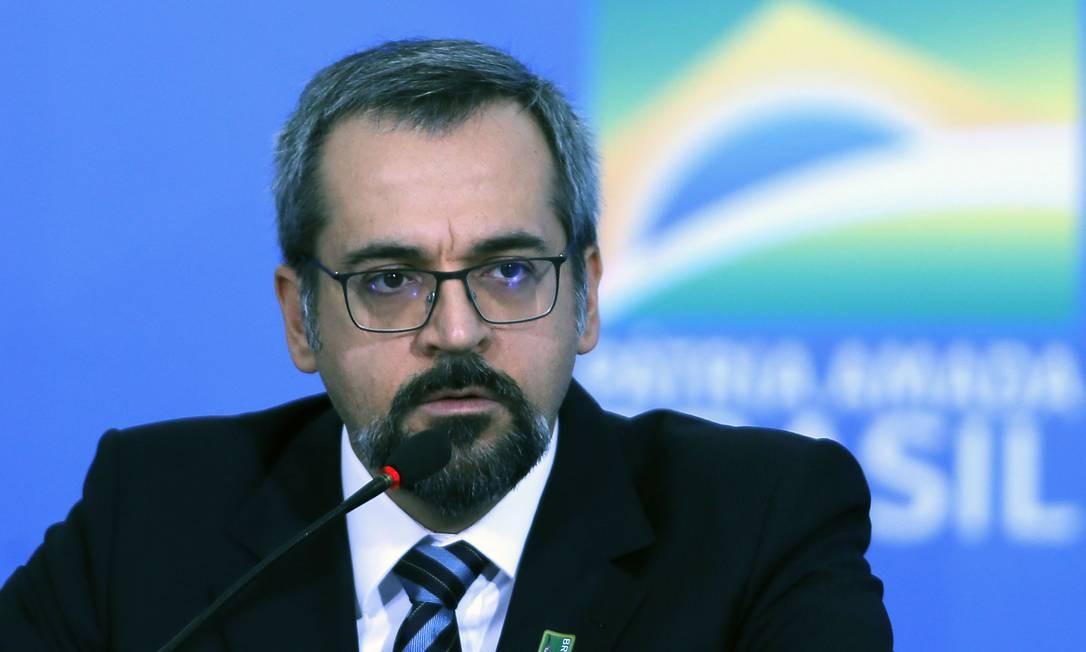 Abraham Weintraub é ministro da Educação Foto: Jorge William / Agência O Globo