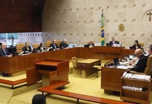O plenário do Supremo Tribunal Federal (STF) 02/10/2019 Foto: Divulgação
