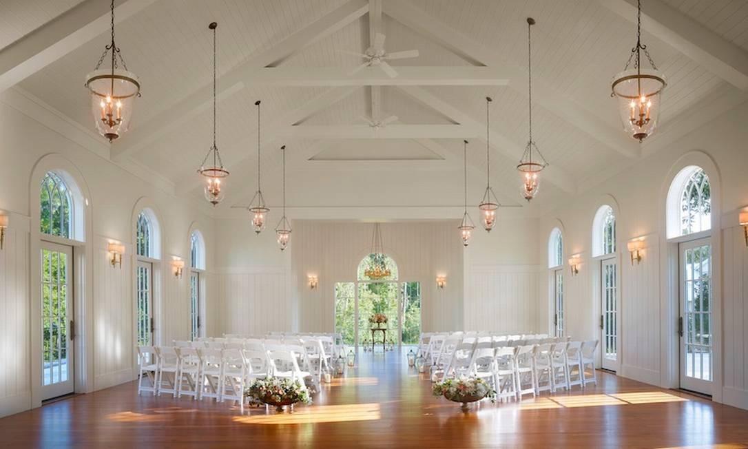 A capela onde o casal Justin Bieber e Hailey Baldwin se casou no Montage Palmetto Bluff, em Bluffton Foto: Preferred Hotels & Resorts
