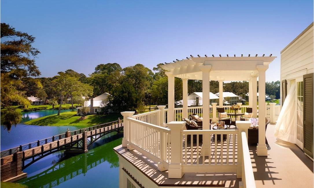 Varanda à beira do lago em Carolina do Sul Foto: Preferred Hotels & Resorts