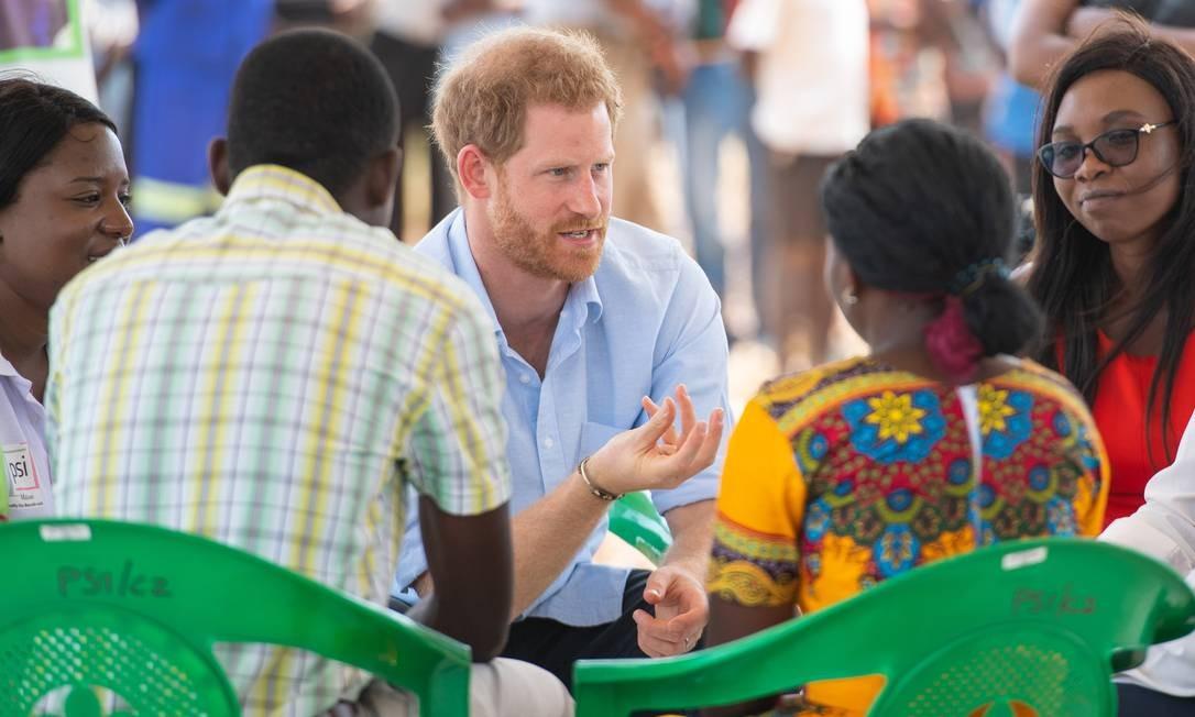 O príncipe Harry no Malawi Foto: Getty Images