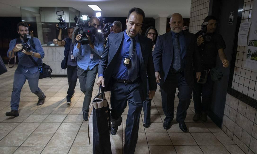 Policia Federal (PF) faz busca e apreensao no apartamento do ex-procurador-geral da República, Rodrigo Janot, em Brasilia Foto: Daniel Marenco / Agência O Globo - 27/09/2019