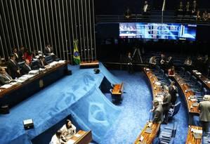 Plenário do Senado Foto: Ailton de Freitas / Agência O Globo