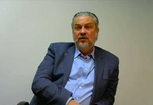 O ex-ministro Antonio Palocci em depoimento de delação premiada Foto: Reprodução