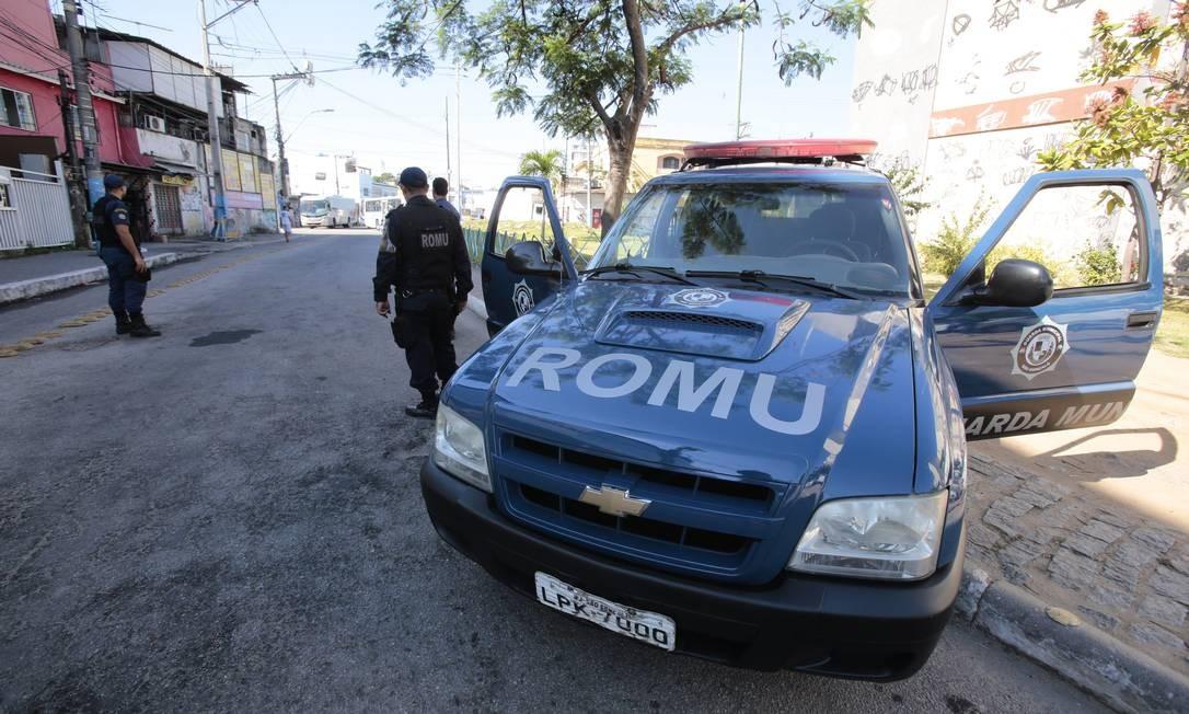 Ronda Ostensiva Municipal (Romu), que foi criada para fazer o patrulhamento preventivo e ostensivo no Centro. Foto: Thiago Freitas / Agência O Globo