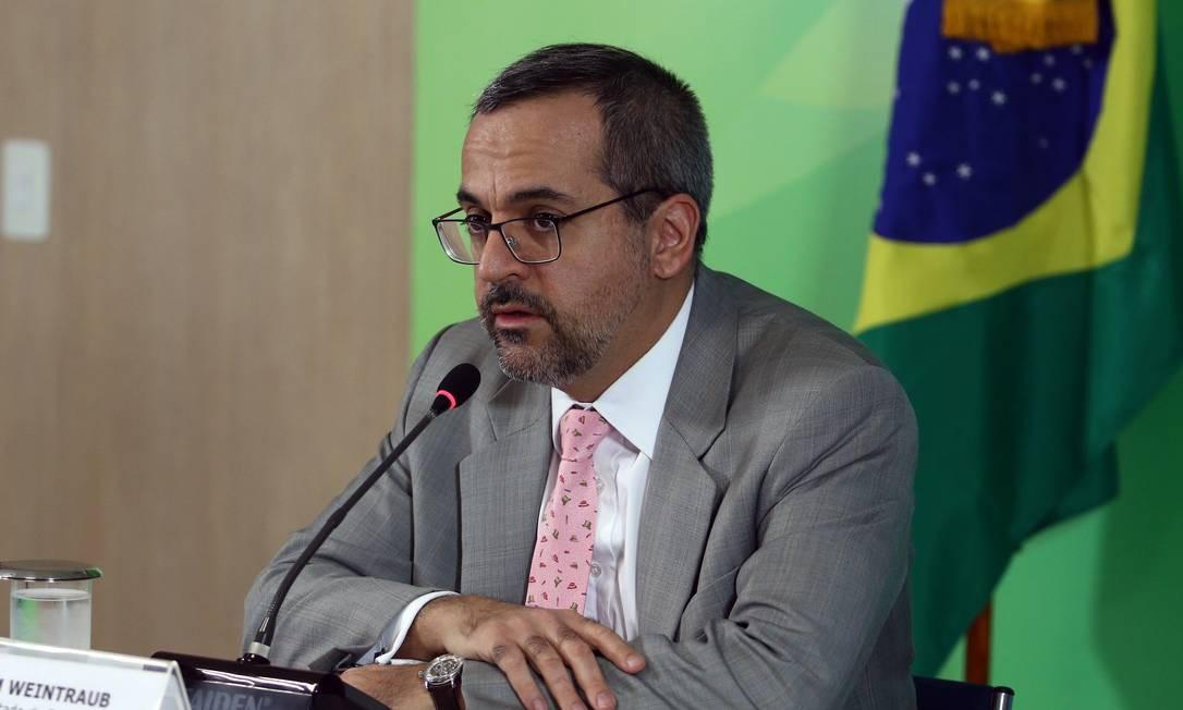 Abraham Weintraub quer punir alunos com baixa nota no Enade Foto: Gabriel Jabur/MEC / Agência O Globo