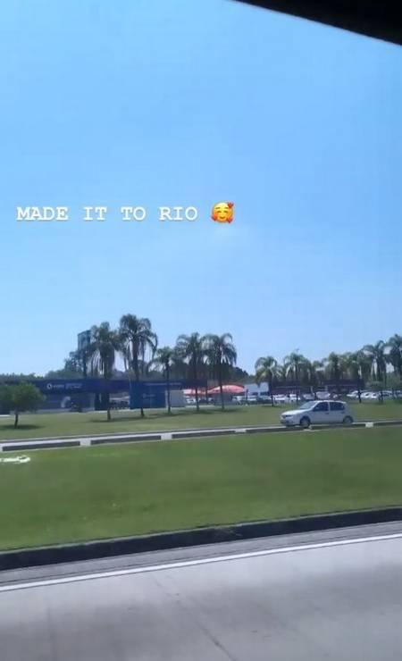 A americana H.E.R. anunciou a sua chegada por meio de um Stories Foto: Reprodução/Instagram
