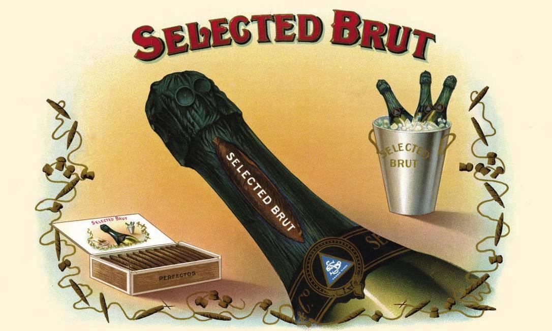 Ilustração mostra uma garrafa de espumante brut Foto: Buyenlarge / Getty Images