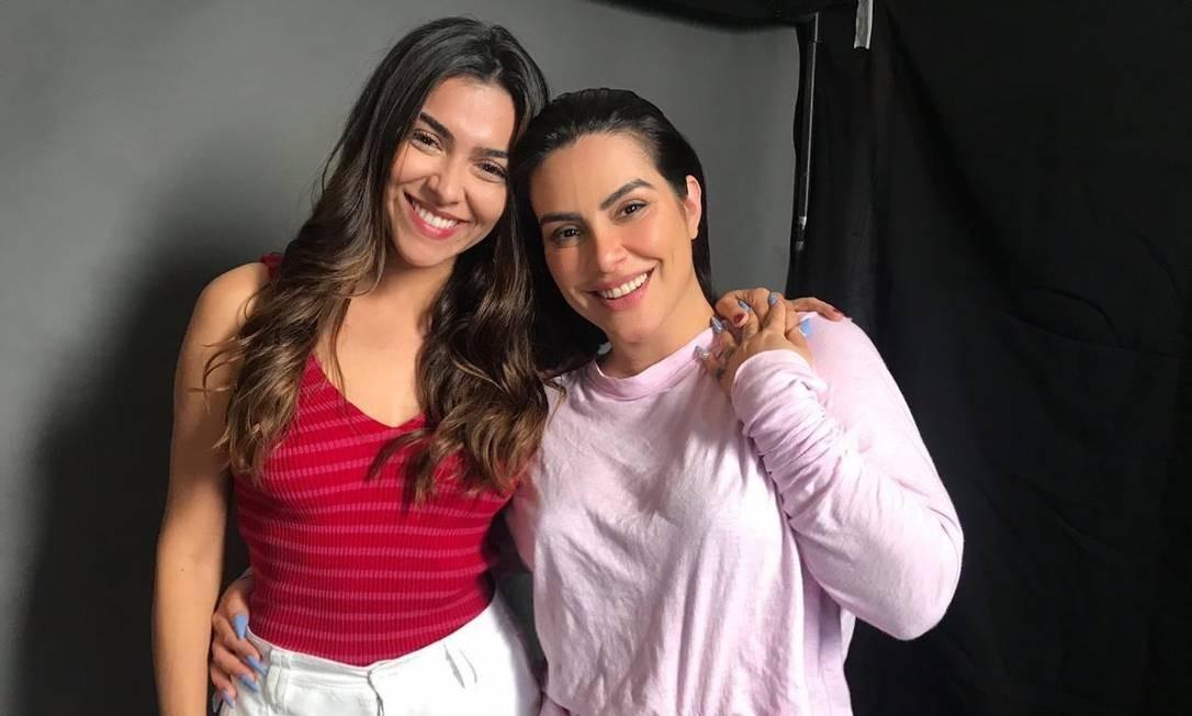Parceria. Tamiha (à esquerda), uma das idealizadoras, e Cleo, produtora Foto: Divulgação