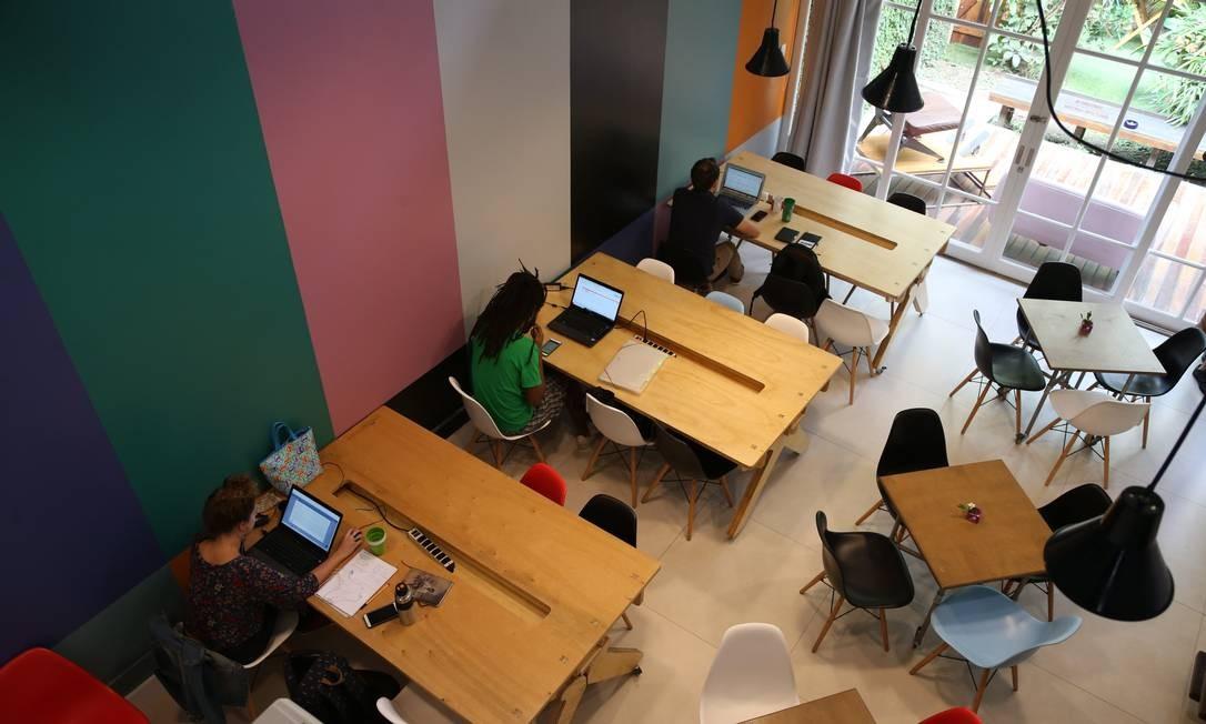 Coworking no Rio: empreendedorismo em alta Foto: Pedro Teixeira / Agência O Globo