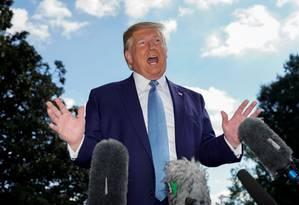 O presidente dos Estados Unidos, Donald Trump Foto: KEVIN LAMARQUE / REUTERS 4-10-19