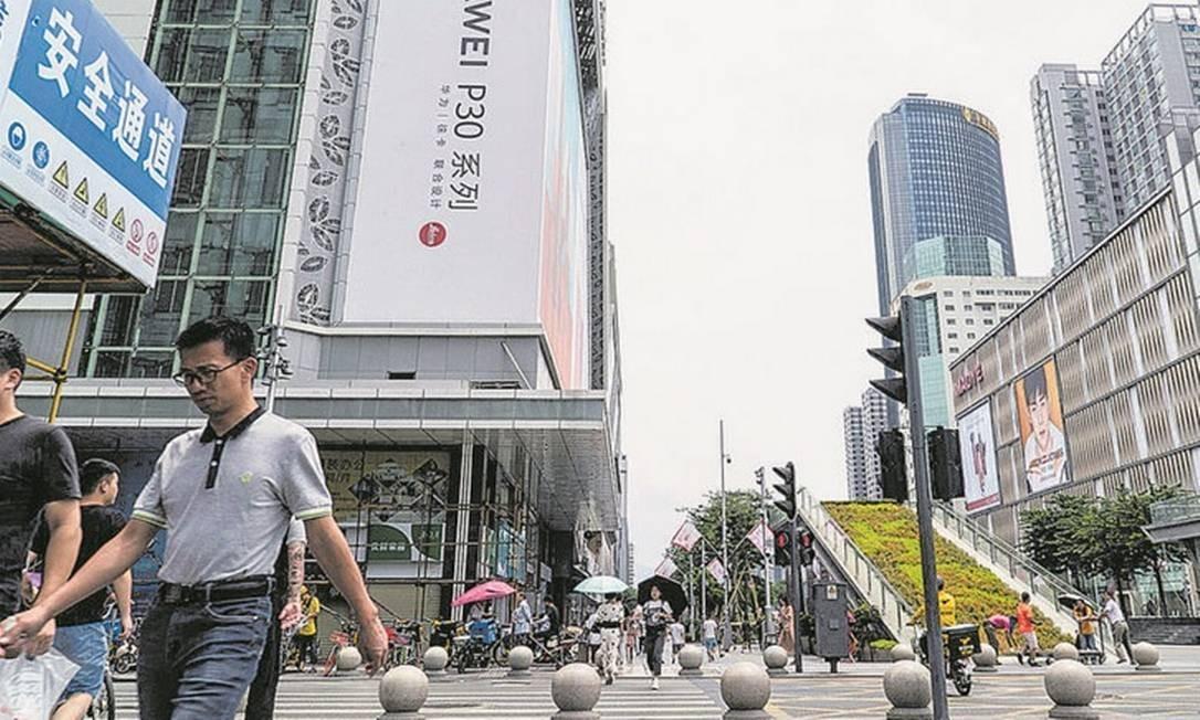 Shenzhen, o novo coração techie do mundo conectado. Foto: STR / AFP