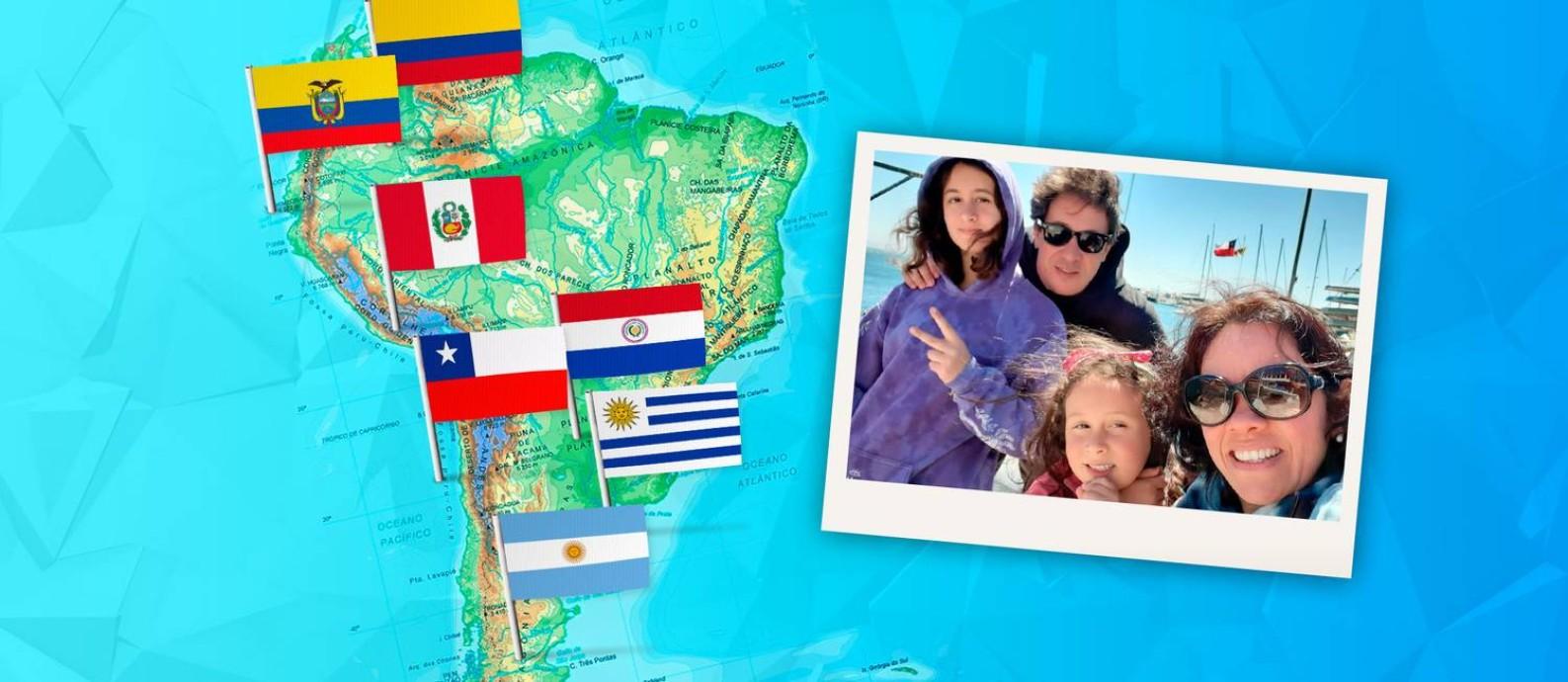 Luiz Nicole se mudou com a família para o Chile em 2016 devido a uma oportunidade de trabalho e também pelo momento do país Foto: Arquivo pessoal
