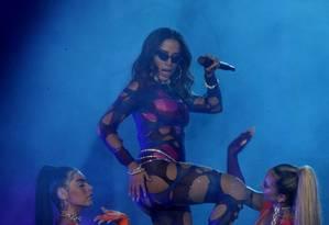 Anitta se apresentou pela primeira vez no Rock in Rio no Brasil Foto: MARCELO THEOBALD