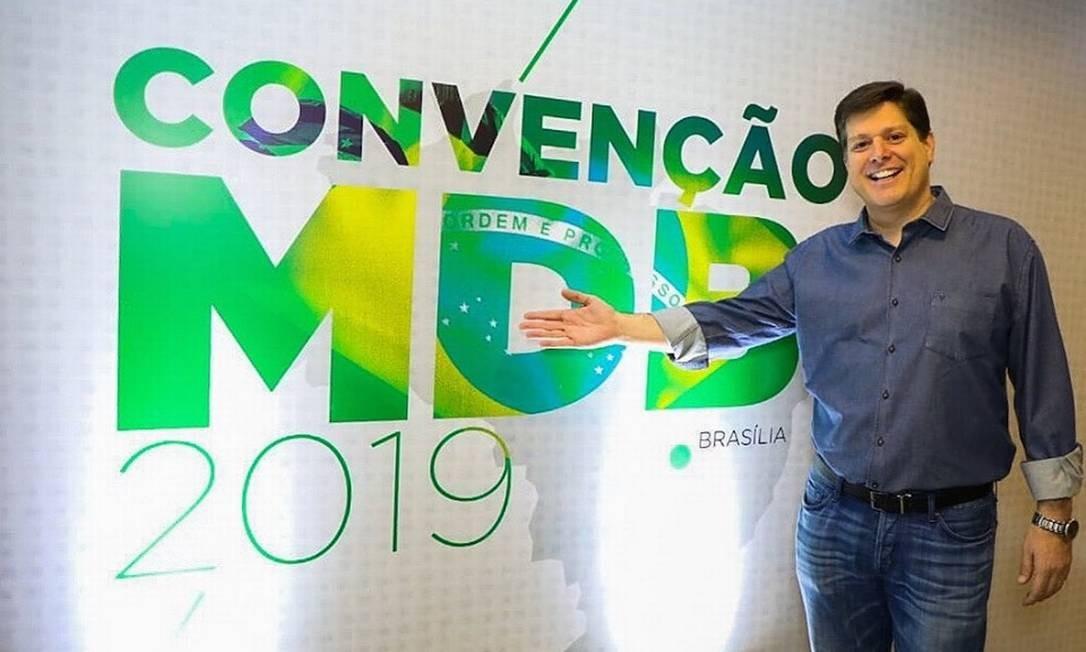 O deputado federal Baleia Rossi (SP) é eleito presidente do MDB Foto: Divulgação