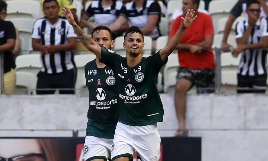 Michael comemora o gol da vitória sobre o Ceará Foto: LC Moreira / Parceiro / Agência O Globo