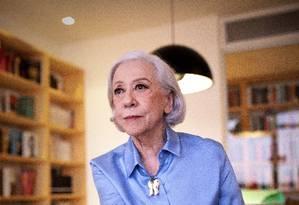 """A atriz Fernanda Montegro, que está lançamento seu livro de memórias """"Prólogo, ato, epílogo"""" (Companhia das Letras) Foto: Leonardo Aversa : Leo Aversa / Agência O Globo"""