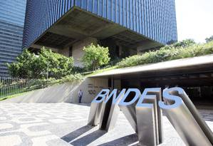 Sede do BNDES no Centro do Rio de Janeiro Foto: Lucas Tavares / Agência O Globo