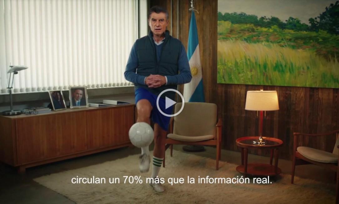 Deep Fake do presidente argentino Mauricio Macri Foto: Reprodução