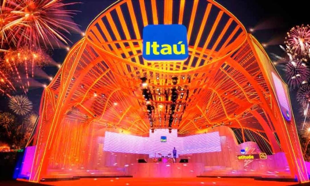 O Itaú foi patrocinador do Rock in Rio Foto: Reprodução