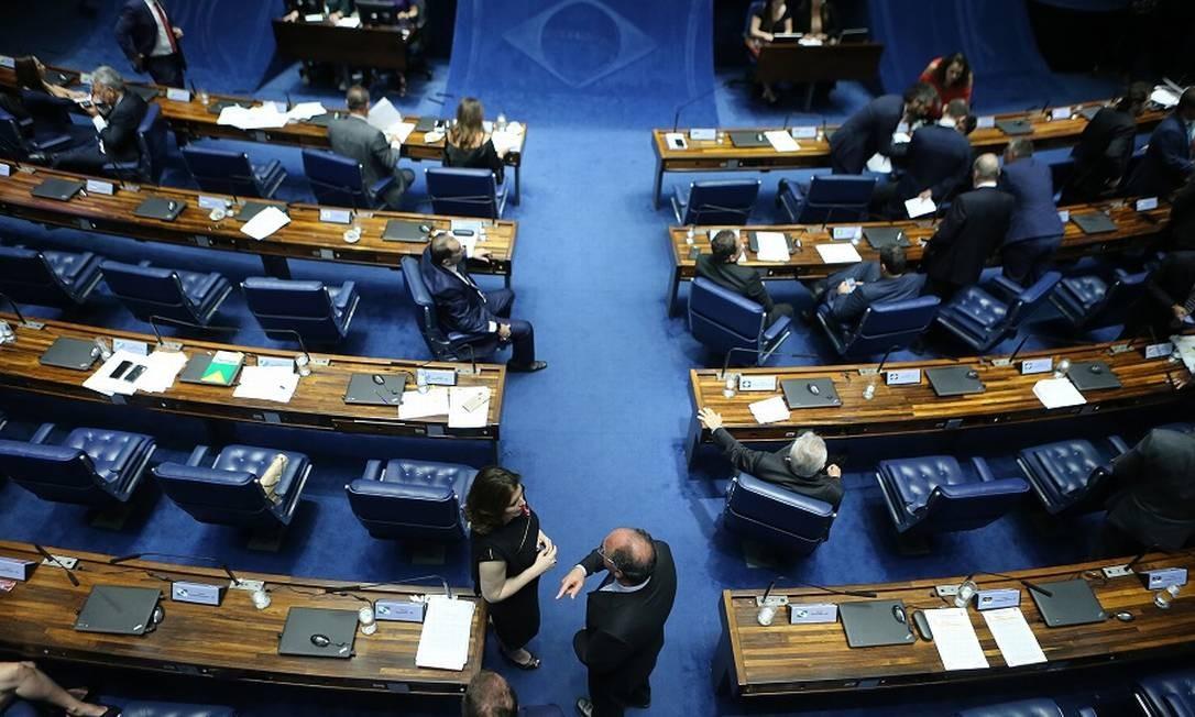 Plenário do Senado: segundo turno só depois do dia 20. Foto: Jorge William / Agência O Globo