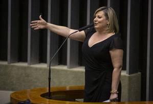 Joice Hasselmann, líder do governo no Congresso Foto: Daniel Marenco / Agência O Globo