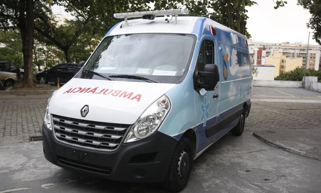 Uma ambulância do Cegonha Carioca Foto: Eduardo Naddar / Eduardo Naddar