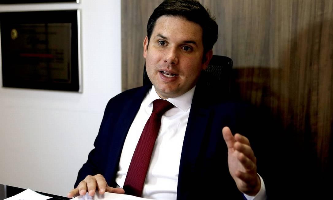 O deputado Hugo Motta, relator do parecer da MP do FGTS. Foto: Jorge William / Agência O Globo