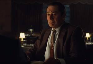 Robert De Niro em 'O irlandês', de Martin Scorsese Foto: Divulgação