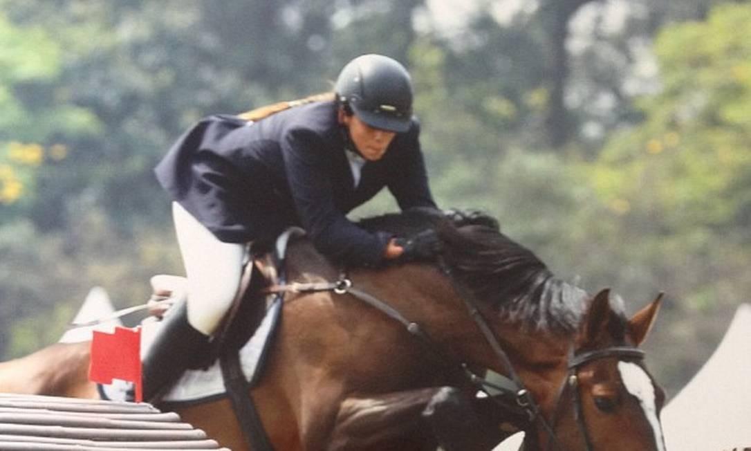 Shanna seguiu participando de competições de equitação mesmo após assumir os negócios da família Foto: Facebook / Reprodução